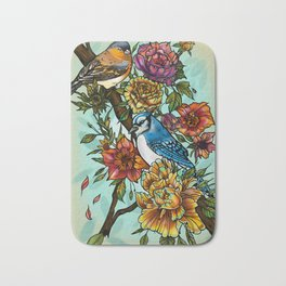 Birdsong by artist Sarah Bliss Rasul Bath Mat