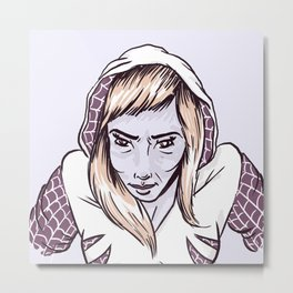 SpiderGwen Metal Print
