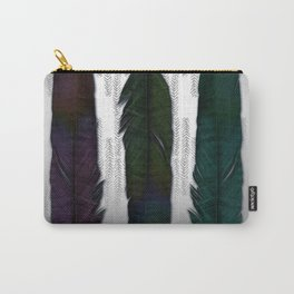 Feathers on silver Carry-All Pouch