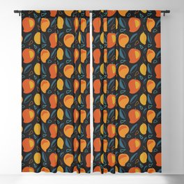 Abstract Mangoes Blackout Curtain