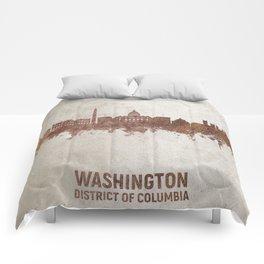 Washington DC Rust Skyline Comforters