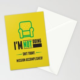 Shit today Motivating Typography Quote Stationery Cards