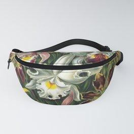 Vintage Orchid Floral Fanny Pack