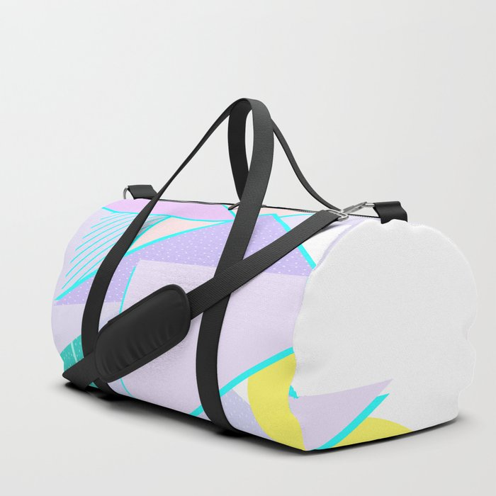 Hello Mountains - Lavender Hills Duffle Bag