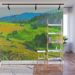 Alaska's Kenai Peninsula - Watercolor Wall Mural