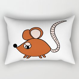 Friendly little mouse drawing for children and adults Rectangular Pillow