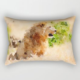 Serengeti Lion Rectangular Pillow