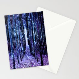 Magical Forest Turquoise Purple Stationery Cards