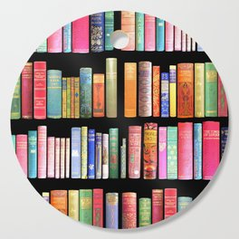 Vintage Book Library for Bibliophile Cutting Board