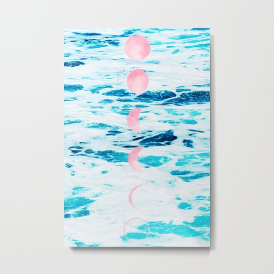 Beach Baby, Moon Baby Metal Print