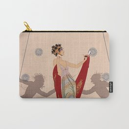 "Art Deco Illustration ""The Duel"" by Erté Carry-All Pouch"