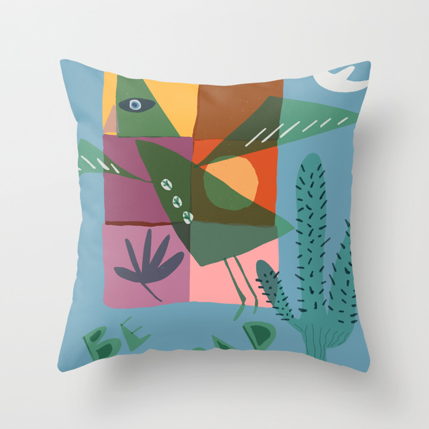 Be Bold Bird Throw Pillow By Osomebeamer Society6