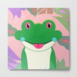Jungle Frog Metal Print