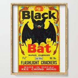 Black Bat Vintage Firecrackers Serving Tray