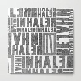 INhaler typo x2 Metal Print