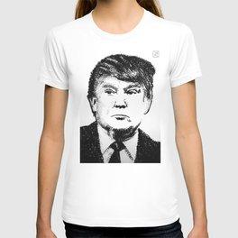 Donald Trump - IDIOCRACY (Rubber stamp portrait) T-shirt