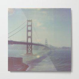 Analog photo of Golden Gate Bridge Metal Print