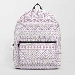 Hand Drawn African Patterns - Dusty Pink Lilac Backpack