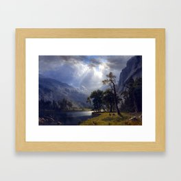 Albert Bierstadt Yosemite Valley Framed Art Print