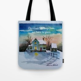 Christmas Blessings Tote Bag