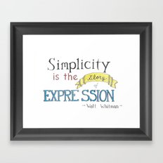 Expression-Whitman Quote Framed Art Print