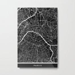 Paris - Minimalist City Map Metal Print