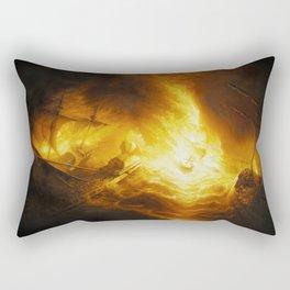 Fireship Attack on the Spanish Armada Rectangular Pillow