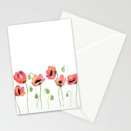 Meraki Poppy Field Stationery Cards