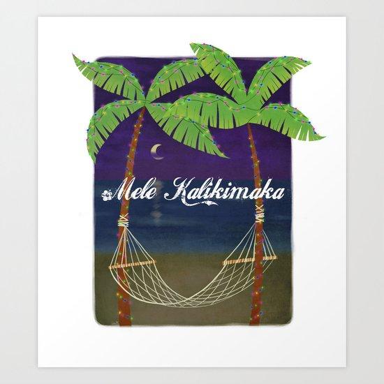 Mele Kalikimaka 2012 Art Print