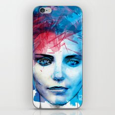 Blue Girl  iPhone & iPod Skin