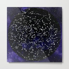 Celestial Map - Northern Hemisphere  Metal Print