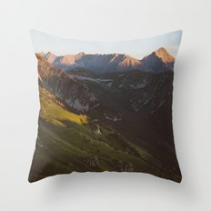 Sunset valley Throw Pillow