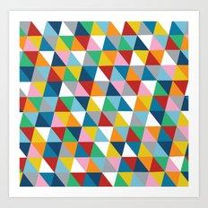 Triangles 45 Art Print