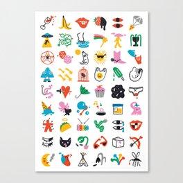 Relevant Symbols Canvas Print