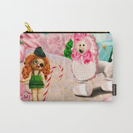 Shepherdess & Frosting Poodle (Candy Christmas Series) Carry-All Pouch