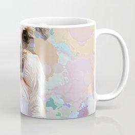 White Schnauzer pop art portrait Coffee Mug