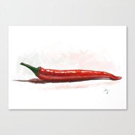 Hot like chili - digital painting Canvas Print