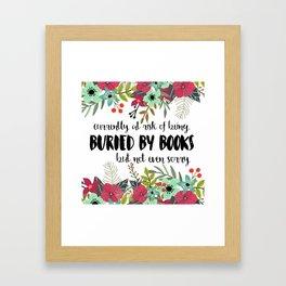Buried By Books Framed Art Print