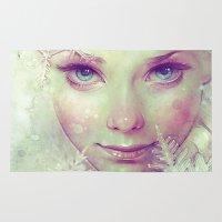 ice Area & Throw Rugs featuring Elsa by Anna Dittmann