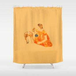 Frida Kahlo with a fawn Shower Curtain