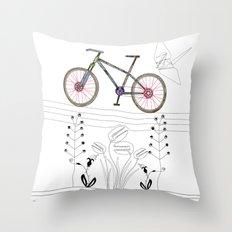 Photo Bicycle Throw Pillow