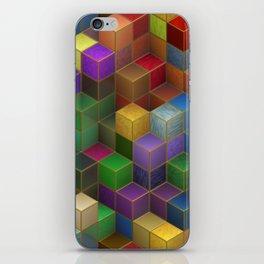 Rainbow Cubes iPhone Skin