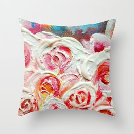 Roses on Fire Throw Pillow