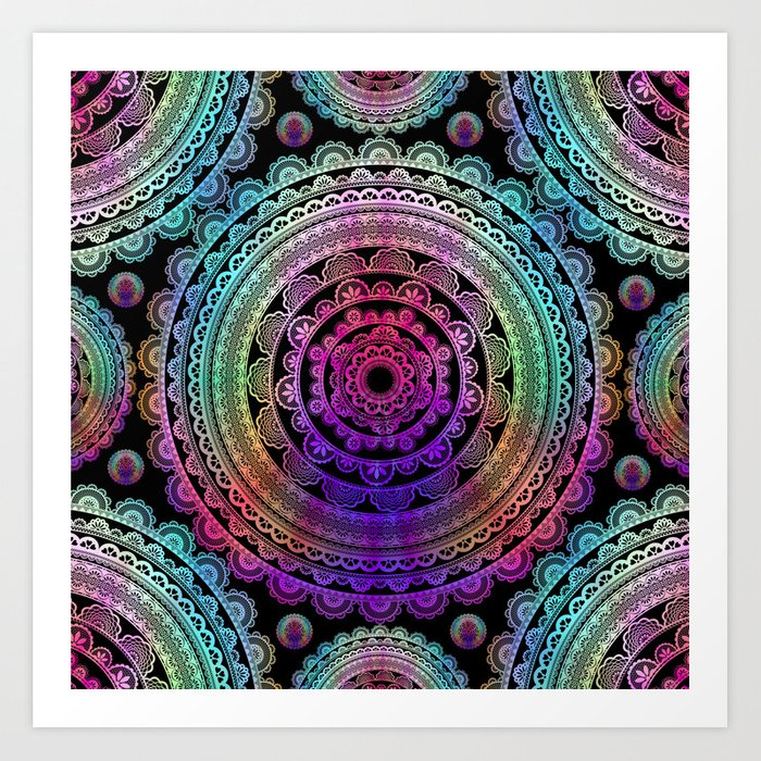 Zen Mantra Mandala Art Print