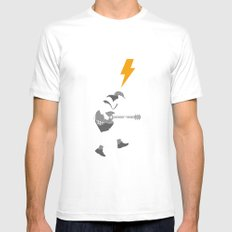 ACDC - For Those About to Rock! Mens Fitted Tee White MEDIUM