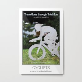 CYCLISTS of Transitions through Triathlon Metal Print