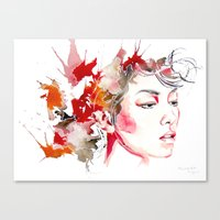 oriental Canvas Prints featuring oriental by Lua Fraga