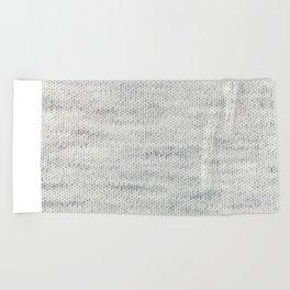Gray Wool Beach Towel