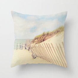 Sand Fence to the Beach Throw Pillow