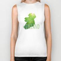 ireland Biker Tanks featuring Ireland by Stephanie Wittenburg